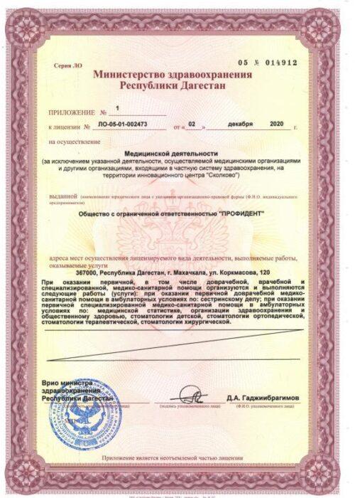 Лицензия на медицинскую деятельность 2